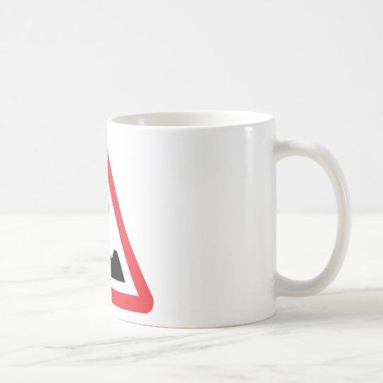 women construction building-site warnsign coffee mug