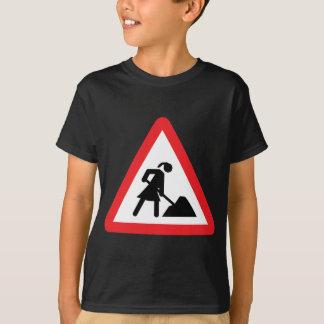 women construction building-site warnsign T-Shirt