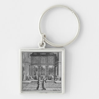Women dancing in the Harem Silver-Colored Square Keychain
