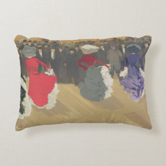 Women Dancing the Can-Can Accent Pillow