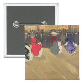 Women Dancing the Can-Can Pinback Button