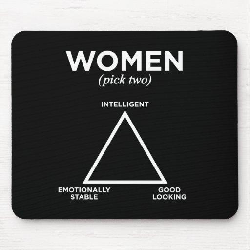 Women Diagram - pick two Mouse Pads