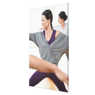 Women doing aerobics canvas print