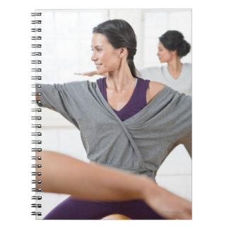 Women doing aerobics spiral notebook