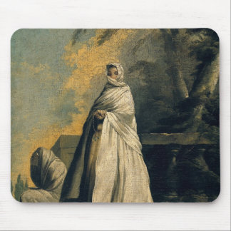 Women Draped in White Mouse Pad