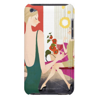 Women Drinking Wine iPod Touch Cover