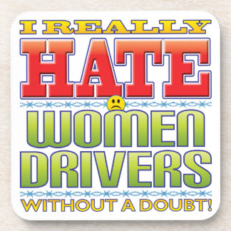 Women Drivers Hate Face Drink Coasters
