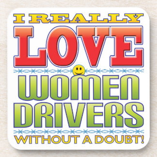 Women Drivers Love Face Coasters
