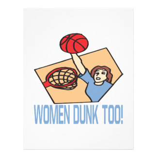Women Dunk Too Full Color Flyer