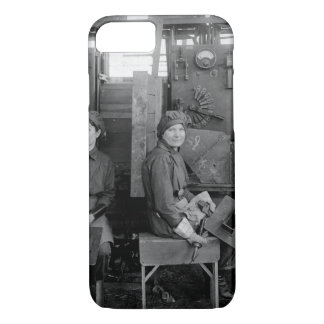 Women electric welders at Hog_War image iPhone 8/7 Case