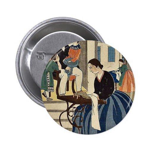 Women engaged in dressmaking by Utagawa,Yoshikazu Buttons