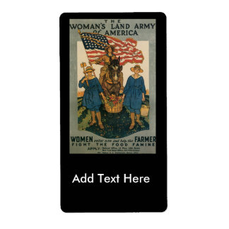 Women Enlist World War II Label