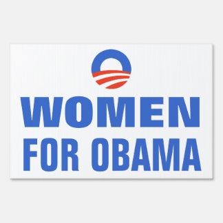 Women Equal Pay for Obama 2012 Yard Sign