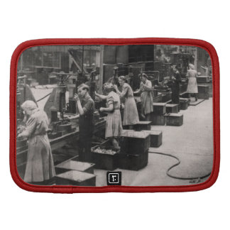 Women Factory Workers During World War Two Folio Planner
