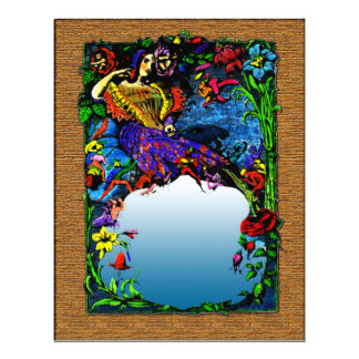 Women Fantasy, Elves, Floral Letterhead