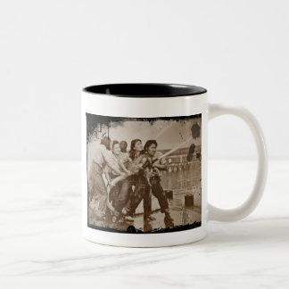 Women Firefighters Pearl Harbor December 7 Two-Tone Coffee Mug