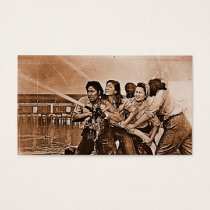Women Firefighters Pearl Harbor December 7th Business Card