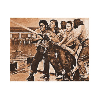 Women Firefighters Pearl Harbor December 7th Canvas Print