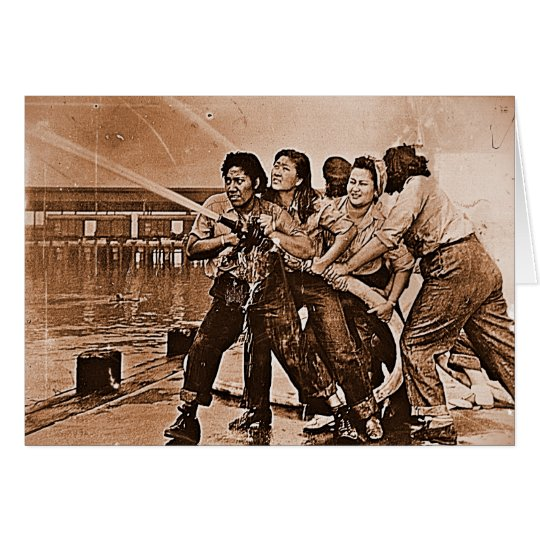 Women Firefighters Pearl Harbor December 7th Card