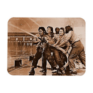 Women Firefighters Pearl Harbor December 7th Magnet