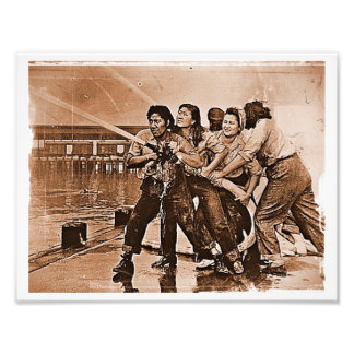 Women Firefighters Pearl Harbor December 7th Photo Print