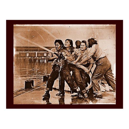 Women Firefighters Pearl Harbor December 7th Postcard