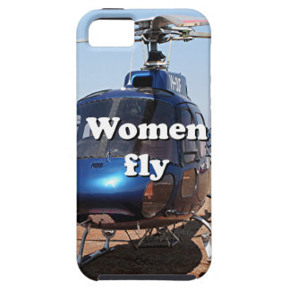 Women fly: blue helicopter iPhone SE/5/5s case