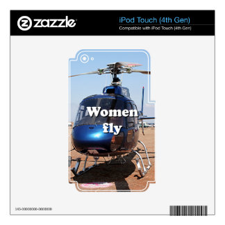 Women fly: blue helicopter skins for iPod touch 4G