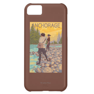 Women Fly Fishing - Anchorage, Alaska Case For iPhone 5C