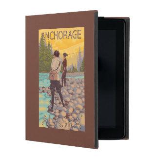 Women Fly Fishing - Anchorage, Alaska iPad Folio Case
