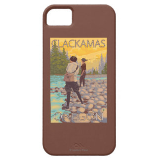 Women Fly Fishing - Clackamas, Oregon iPhone SE/5/5s Case