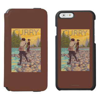 Women Fly Fishing - Curry, Alaska iPhone 6/6s Wallet Case