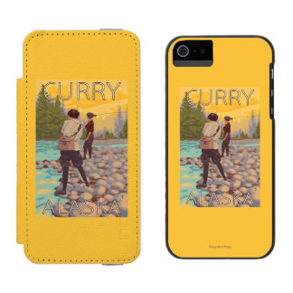Women Fly Fishing - Curry, Alaska iPhone SE/5/5s Wallet Case