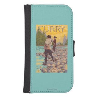 Women Fly Fishing - Curry, Alaska Galaxy S4 Wallet Case