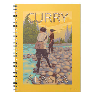 Women Fly Fishing - Curry, Alaska Spiral Notebook