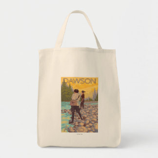 Women Fly Fishing - Dawson, Alaska Tote Bag