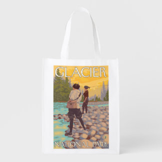 Women Fly Fishing - Glacier National Park, MT Market Totes