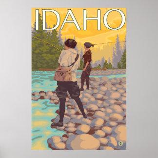 Women Fly Fishing - Idaho Poster