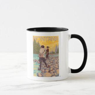 Women Fly Fishing - Montana Mug