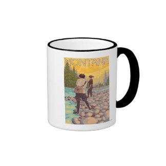 Women Fly Fishing - Montana Ringer Mug