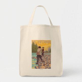Women Fly Fishing - Montana Tote Bag