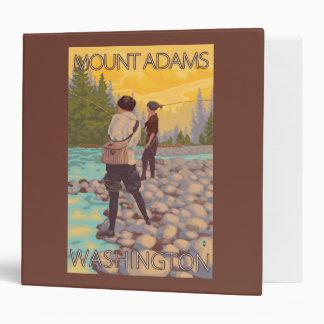 Women Fly Fishing - Mount Adams, Washington 3 Ring Binder