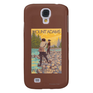 Women Fly Fishing - Mount Adams, Washington Galaxy S4 Cover