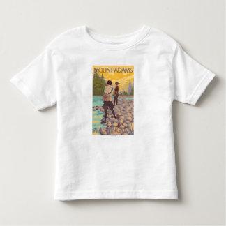 Women Fly Fishing - Mount Adams, Washington Toddler T-shirt