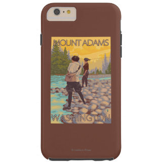 Women Fly Fishing - Mount Adams, Washington Tough iPhone 6 Plus Case