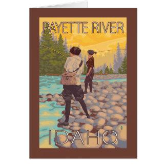 Women Fly Fishing - Payette River, Idaho Card