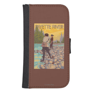 Women Fly Fishing - Payette River, Idaho Galaxy S4 Wallet Cases