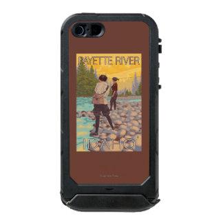 Women Fly Fishing - Payette River, Idaho Waterproof iPhone SE/5/5s Case