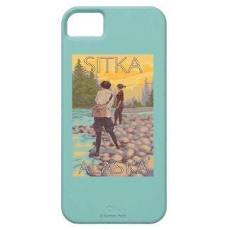Women Fly Fishing - Sitka, Alaska iPhone 5 Covers