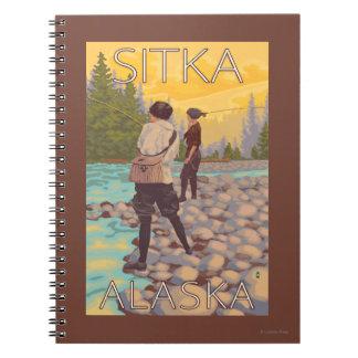 Women Fly Fishing - Sitka, Alaska Notebook